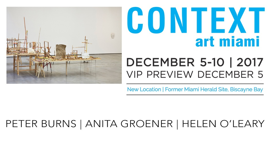 Forthcoming Context Art Miami, 5 - 10 December 2017.
